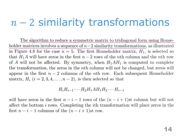 similarity transformations