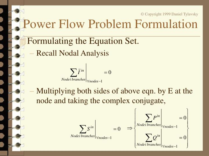 Formulating the Equation Set.