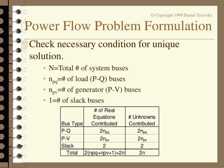 Check necessary condition for unique solution.