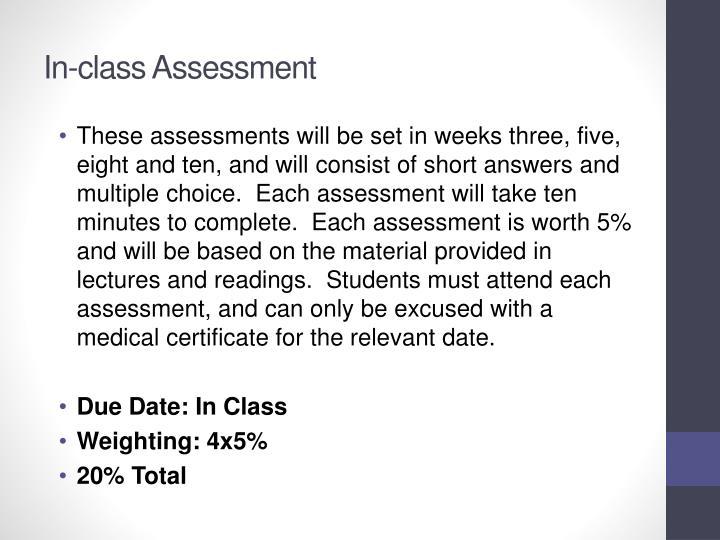 In-class Assessment
