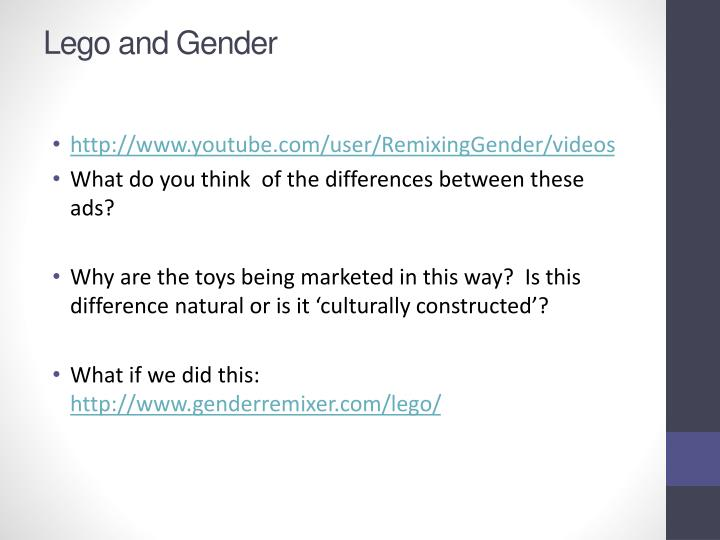 Lego and Gender