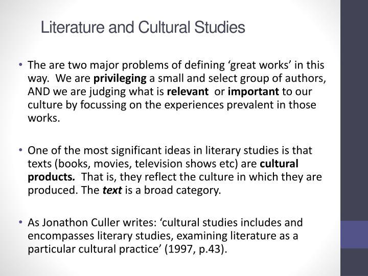 Literature and Cultural Studies