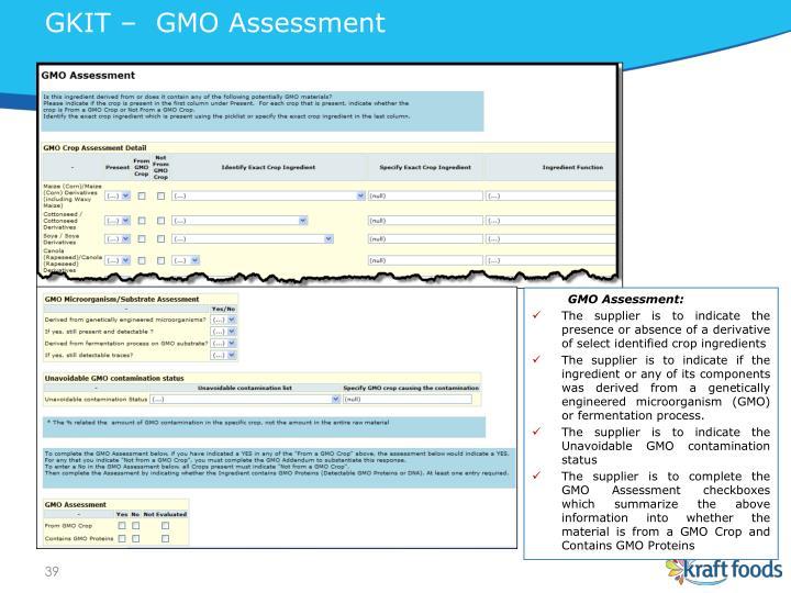 GKIT –  GMO Assessment