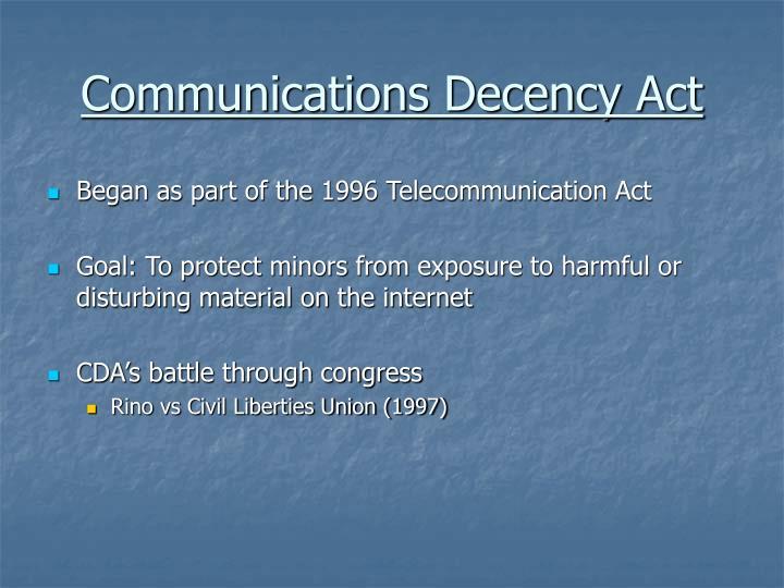 Communications Decency Act