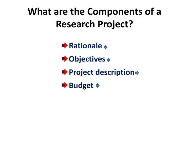 What are the Components of a Research Project?