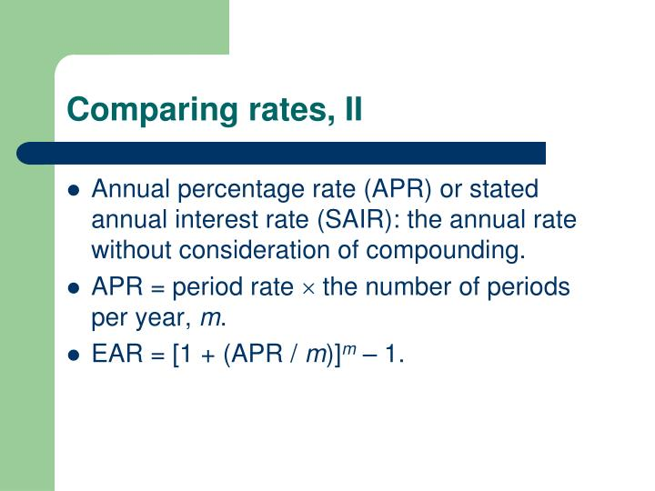 Comparing rates, II