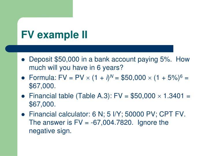 FV example II