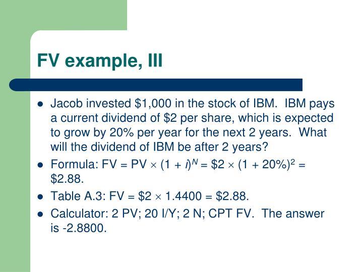 FV example, III