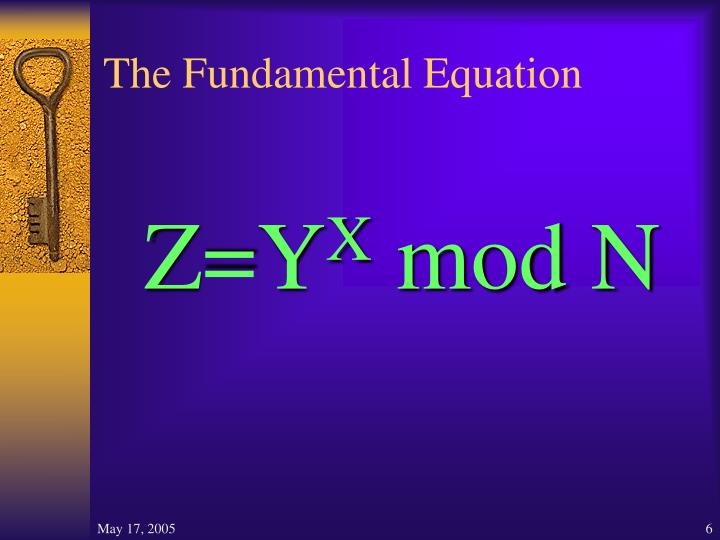 The Fundamental Equation