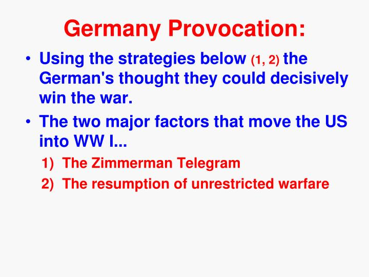 Germany Provocation: