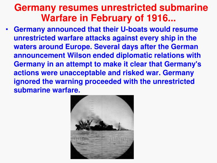 Germany resumes unrestricted