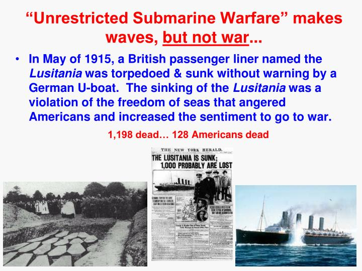 """Unrestricted Submarine Warfare"" makes waves,"