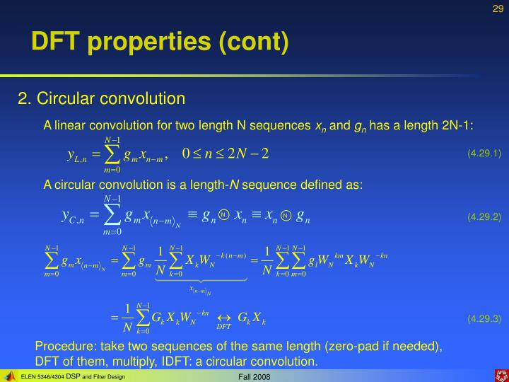 DFT properties (cont)
