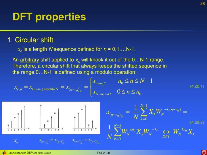 DFT properties