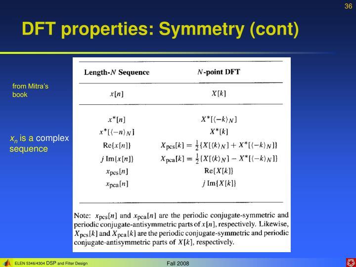DFT properties: Symmetry (cont)