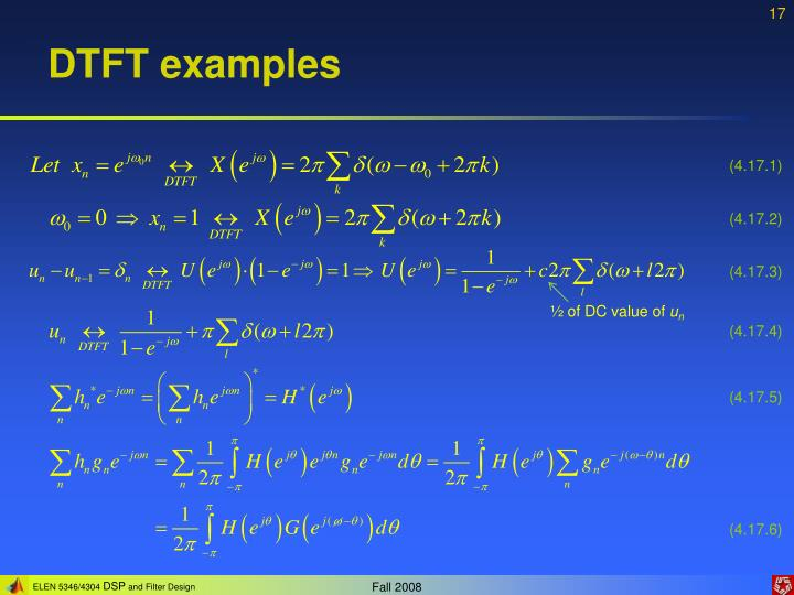 DTFT examples