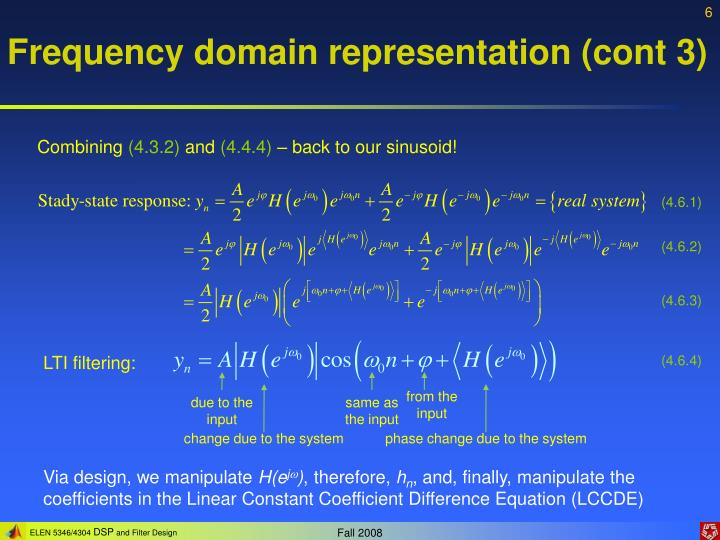 Frequency domain representation (cont 3)