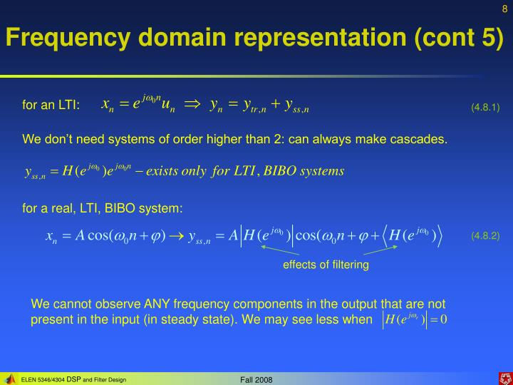 Frequency domain representation (cont 5)