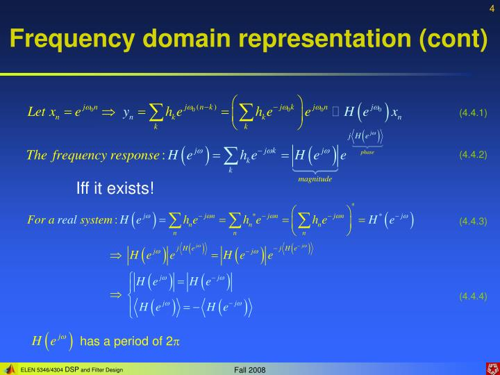 Frequency domain representation (cont)