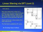 linear filtering via dft cont 2