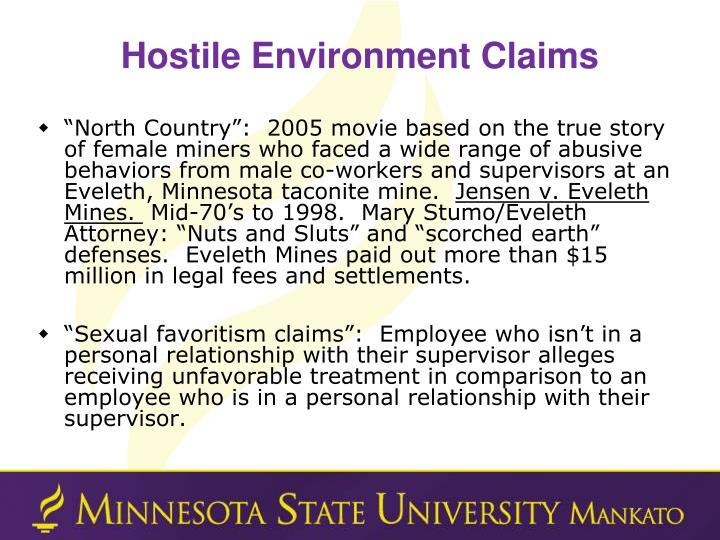 Hostile Environment Claims