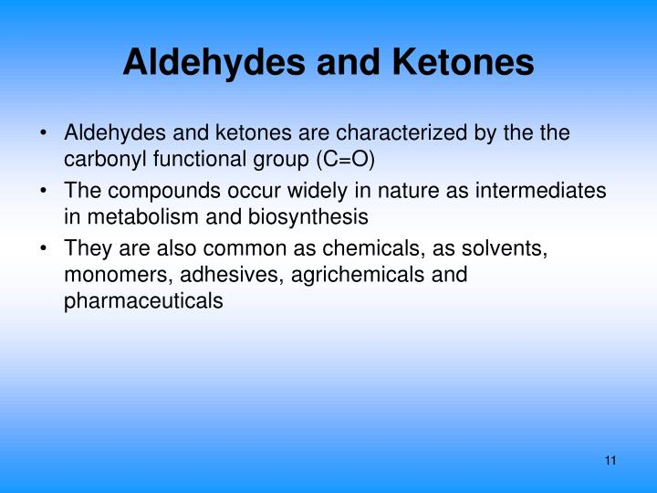 Aldehydes and Ketones