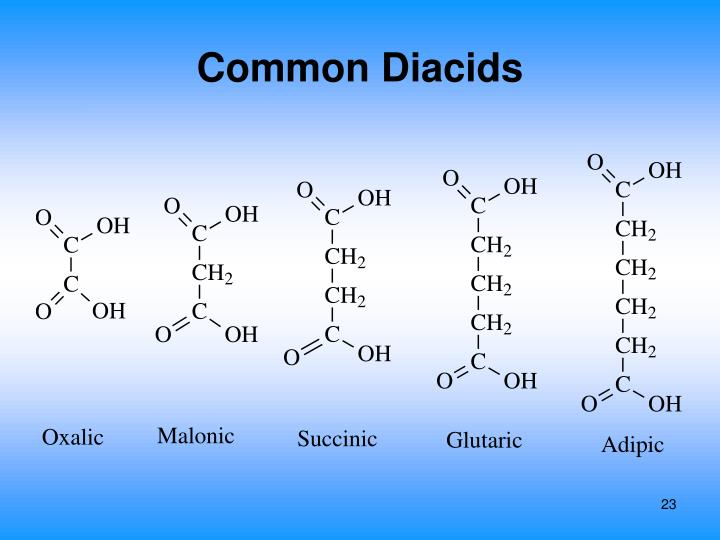 Common Diacids