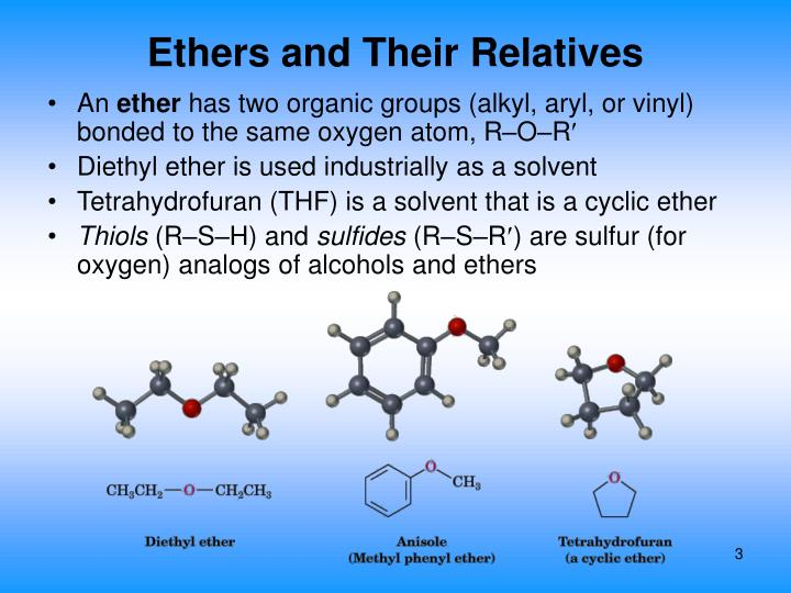 Ethers and their relatives