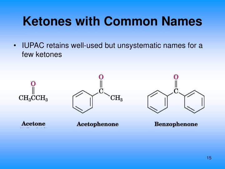 Ketones with Common Names