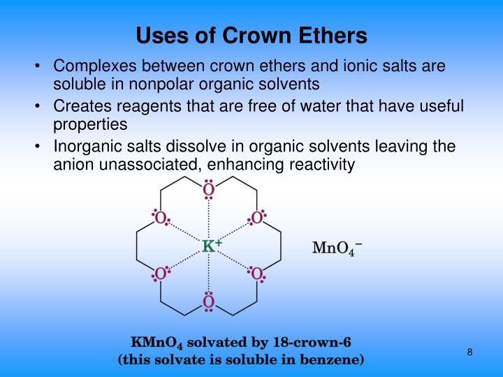 Uses of Crown Ethers