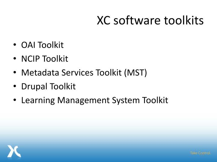 XC software toolkits