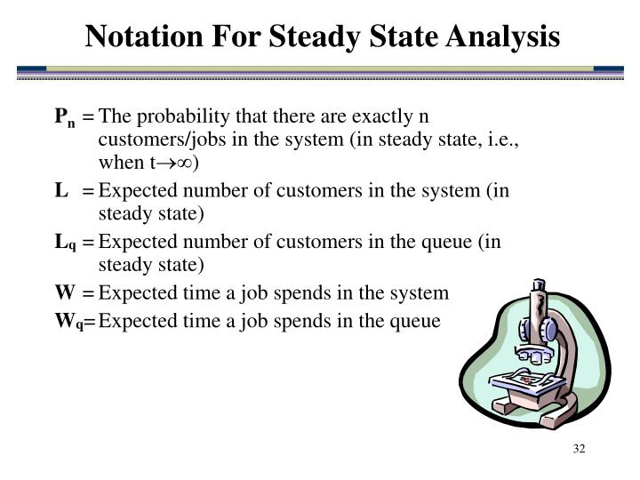 Notation For Steady State Analysis