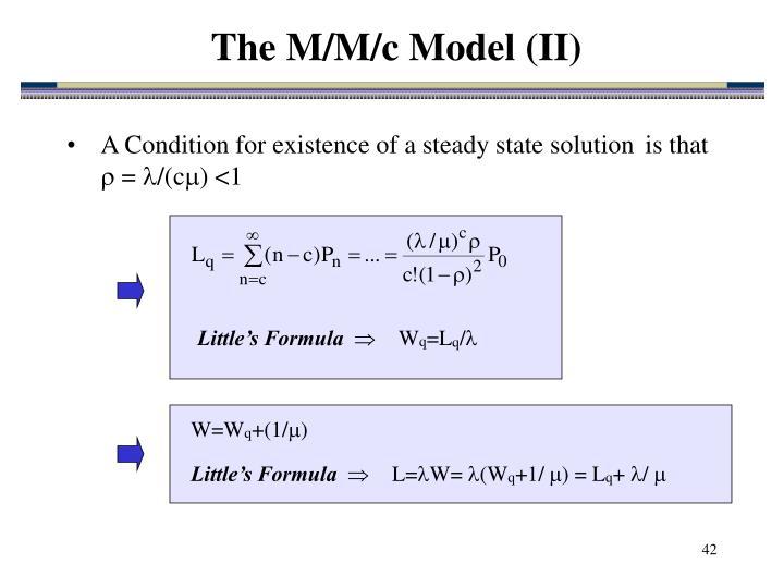 The M/M/c Model (II)