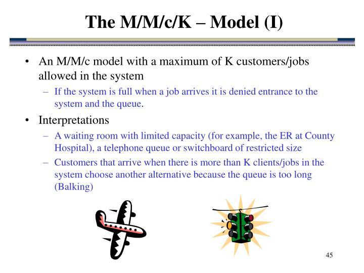 The M/M/c/K – Model (I)
