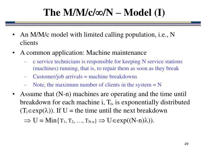 The M/M/c/