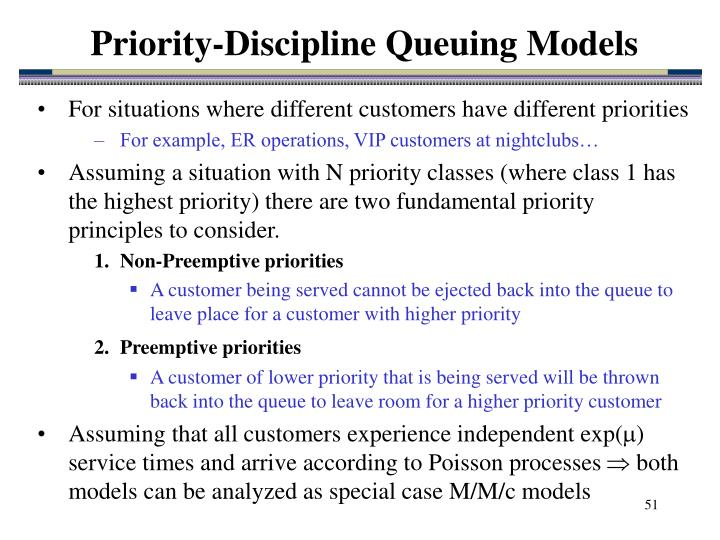 Priority-Discipline Queuing Models
