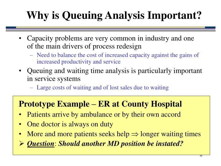 Why is Queuing Analysis Important?
