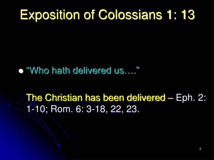 Exposition of colossians 1 131