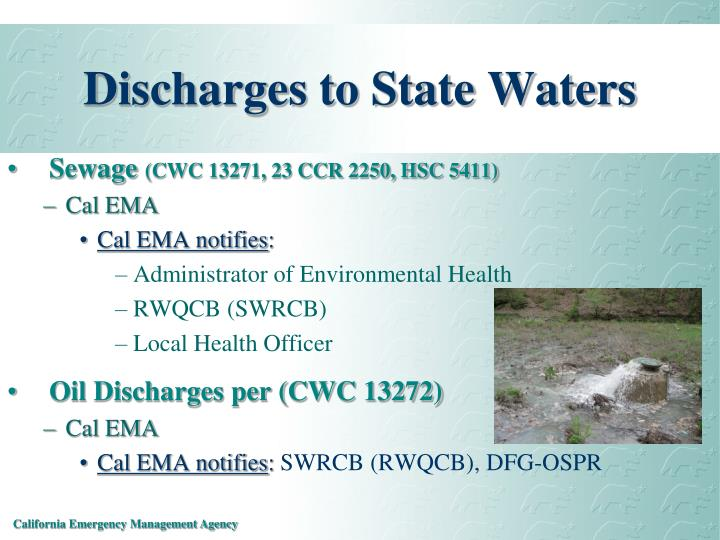 Discharges to State Waters