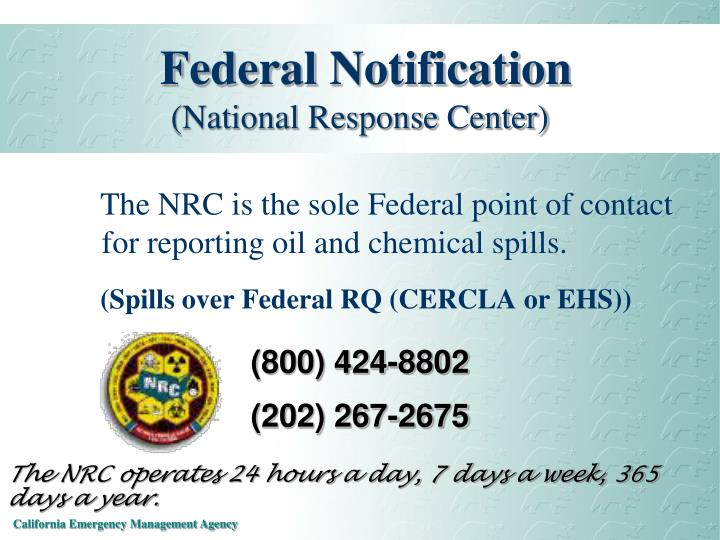 Federal Notification