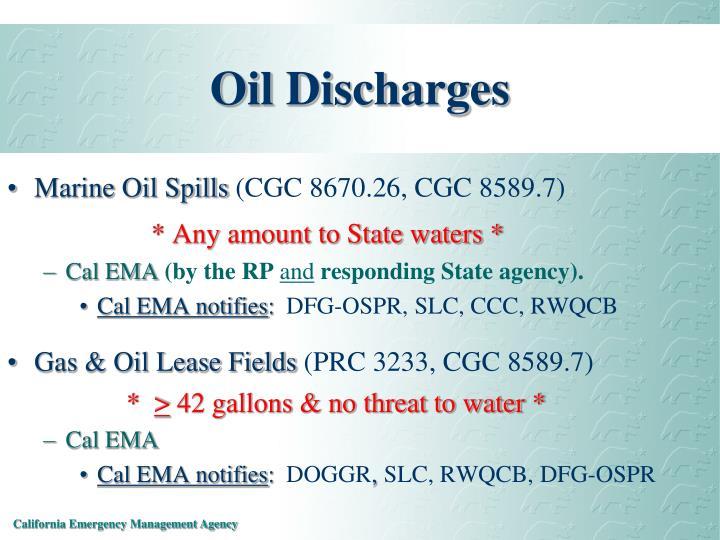 Oil Discharges