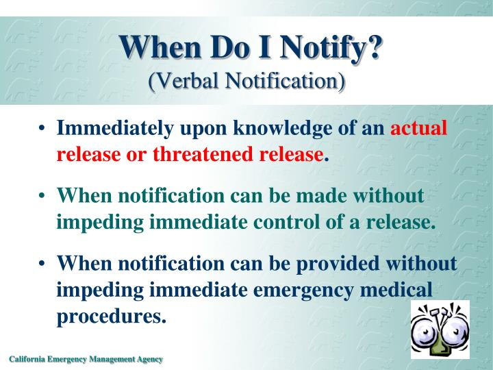 When Do I Notify?