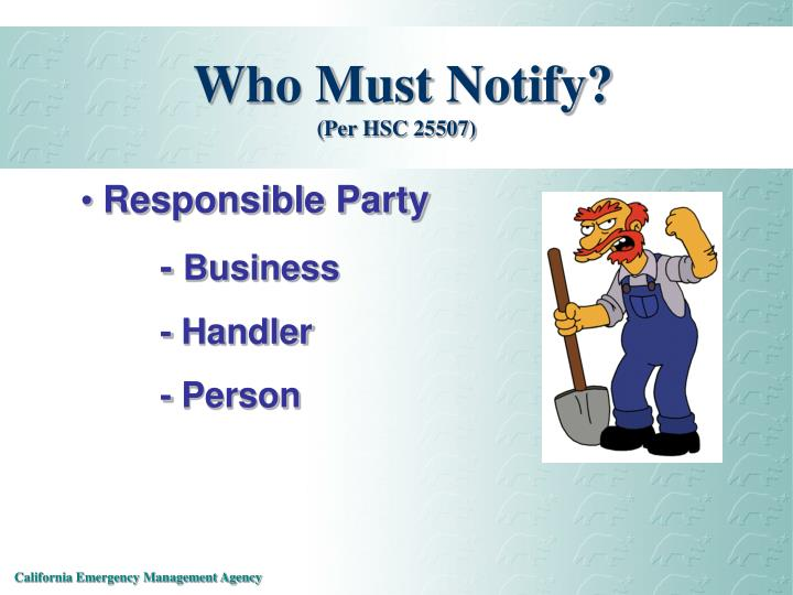 Who Must Notify