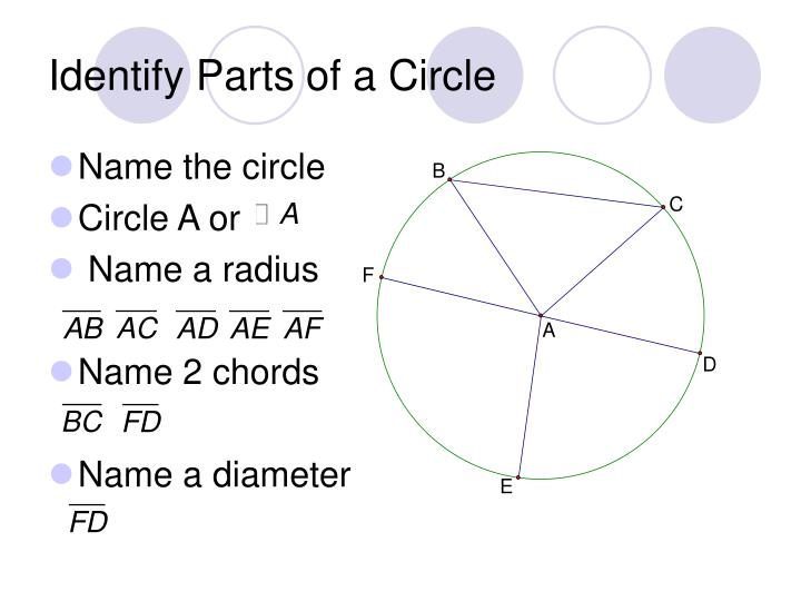 Identify Parts of a Circle
