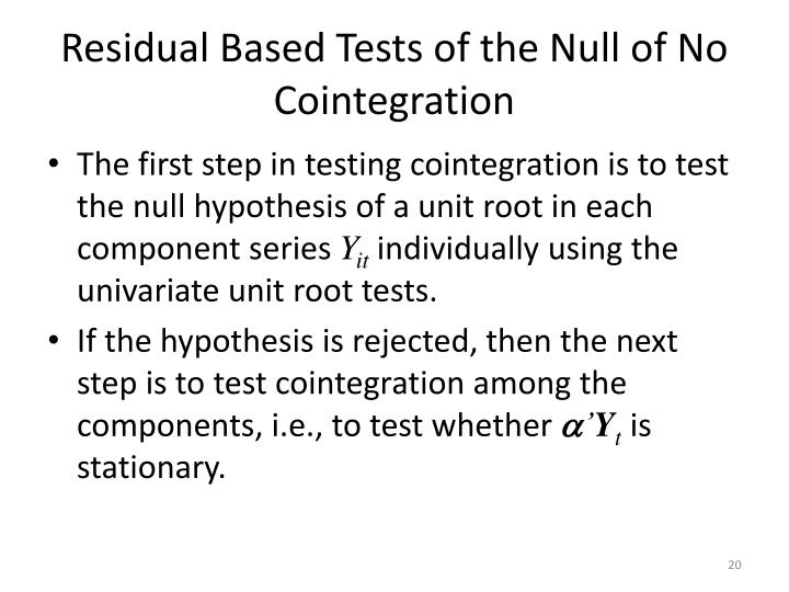 Residual Based Tests of the Null of No Cointegration