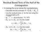 residual based tests of the null of no cointegration5