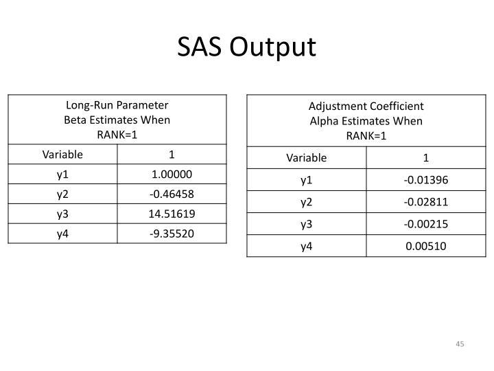 SAS Output