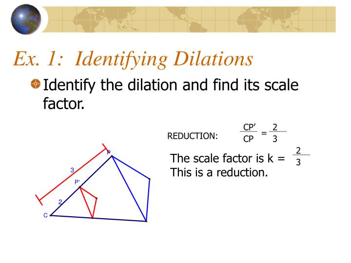 Ex. 1:  Identifying Dilations