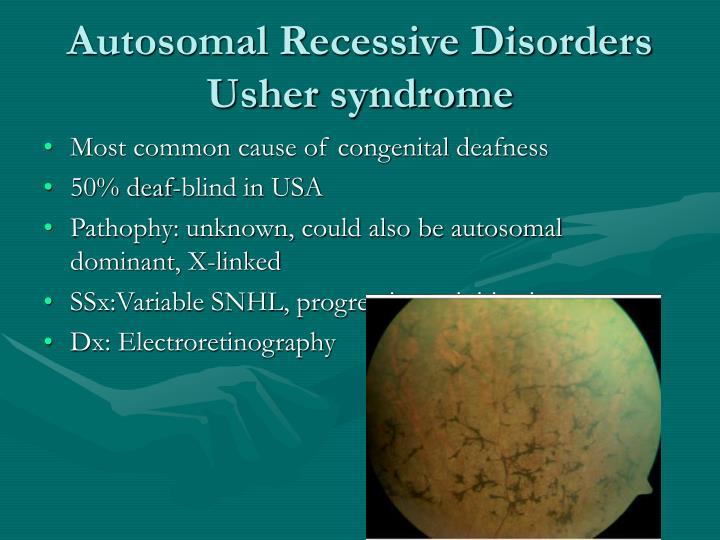 Autosomal Recessive Disorders
