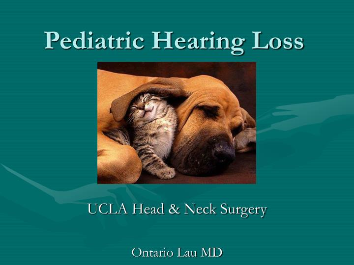 Pediatric hearing loss